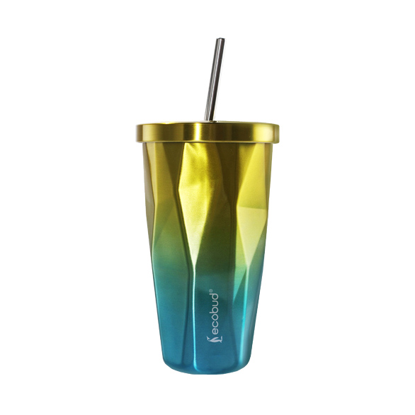 51c86a36638 Stainless Steel Cup With Straw (Yellow)